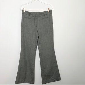 LOFT Kate Flare Herringbone Career Pants Trousers